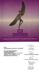 LONDON International Advertising Award (2001) ーfinalist as photographer