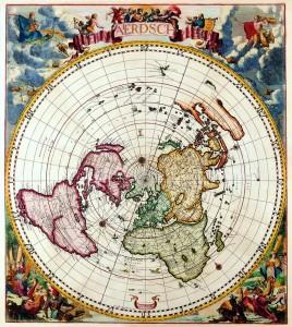 Polar Map Cornelis Dankertz c 1700