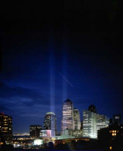 Tribute in Light - Ground Zero New York 2002 Photo by Miro Ito